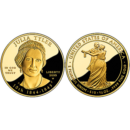 2009 First Spouse 1/2 oz Gold Proof Coin - Julia Tyler (X34)