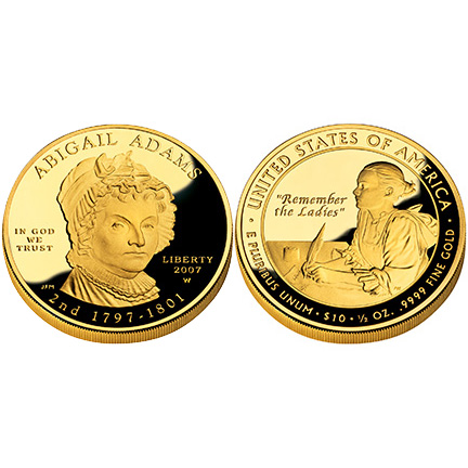 Abigail Adams Gold 2007 Proof