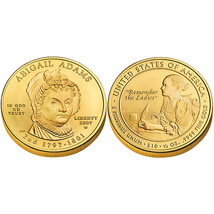 Abigail Adams Gold 2007 Uncirculated