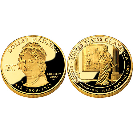 Dolley Madison Gold 2007 Proof