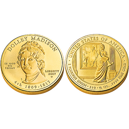 Dolley Madison Gold 2007 Uncirculated