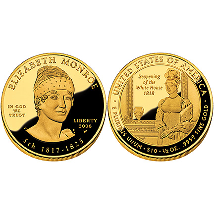 Elizabeth Monroe Gold 2008 Proof
