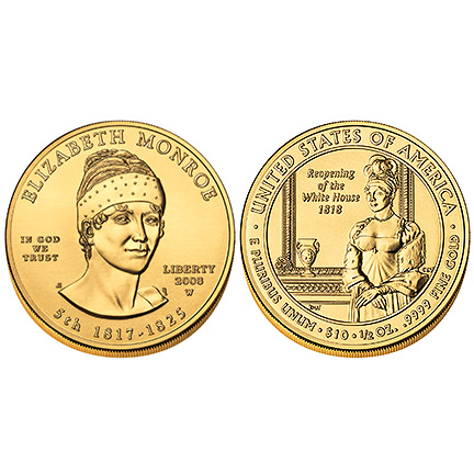 Elizabeth Monroe Gold 2008 Uncirculated
