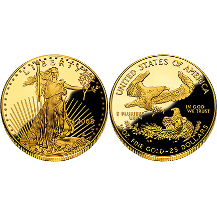 2008 Gold Eagle - One-Half Ounce Proof Coin