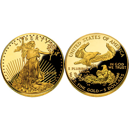 2008 Gold Eagle - One-Tenth Ounce Proof Coin
