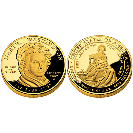Martha Washington Gold 2007 Proof