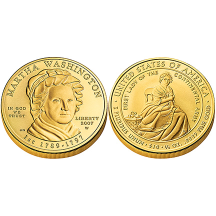 Martha Washington Gold 2007 Uncirculated