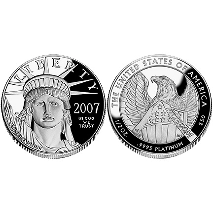 2007 Platinum Eagle - One-Half Ounce Proof Coin