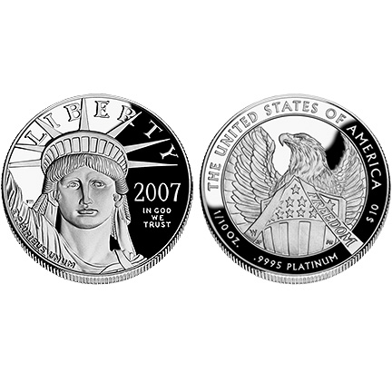 2007 Platinum Eagle - One-Tenth Ounce Proof Coin