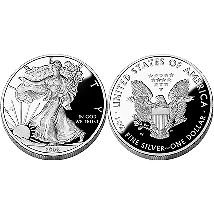 2008 Silver Eagle - One Ounce Proof Coin