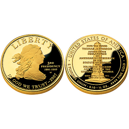 Jefferson's Liberty Gold 2007 Proof